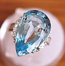 20.35ct. Genuine Swiss Blue Topaz Pear Shape Loose Stone  Gemstone