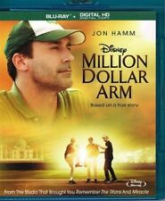 MILLION DOLLAR ARM Disney Blu-ray (NO DIGITAL COPY/MAGIC CODE) - FREE SHIP -MINT