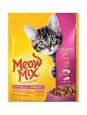 Meow Mix Dry Cat Food Kitten Li'l Nibbles 18-Ounce 3 Packs