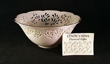 Lenox China Westbury Pierced Large Bowl hand trimmed with 24Kt gold – Nwt