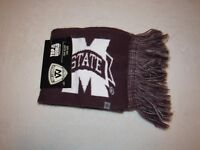 NWT TOP OF THE WORLD MISSISSIPPI STATE UNIVERSITY BULLDOGS SCARF