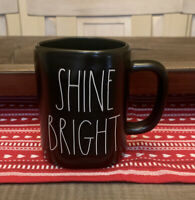 Rae Dunn by Magenta - SHINE BRIGHT - LL Black Ceramic Coffee Tea Mug