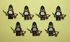 LEGO Minifigures Castle Knights Lot 7 Guys Weapons Swords Lego Minifigs Toys
