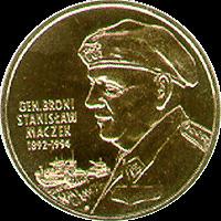 2003 Coin of Poland Polish 2zl General Stanislaw Maczek