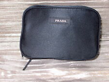 Prada Blue textile pouch Cosmetic bag Brand New with zipper all around