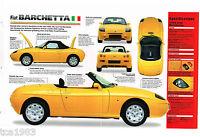 1995 / 1996 FIAT BARCHETTA SPEC SHEET / Brochure / Catalog
