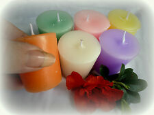 "6 pack TRIPLE scented ""VOTIVE"" soy wax candles. U-pick your own scents."