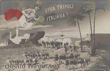 LIBYA ITALY VIVA TRIPOLI ITALIANA CHINATO TRIPOLITANIA REAL PHOTO