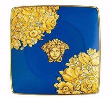 Versace Rosenthal - Coppetta quadra piana 12 cm Medusa Rhapsody Blue Versace