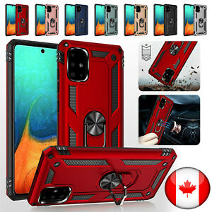Armor Case For Samsung A71 A51 A10e Magnetic Shockproof Case Ring Holder Cover