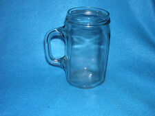 Glass Jar Style Mug with Handle
