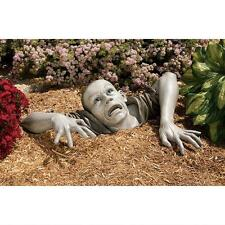 Post Apocalyptic Zombie Garden Sculpture Ghoulish Flesh Hungry Undead Statue