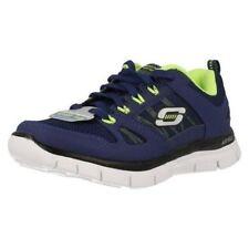 Chaussures Skechers à lacets en cuir pour garçon de 2 à 16 ans