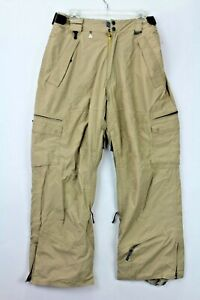 686 Smarty Unisex Adults Size Small Beige SNowboard 3-1 Winter Snow pants