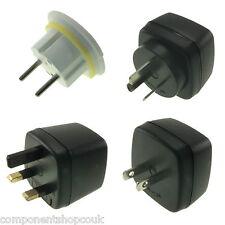 UK 3 Pin to EU US AU Europe Travel Power AC Adapter Plug Wall Converter