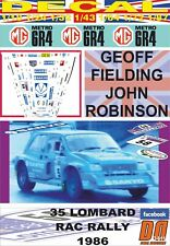 DECAL MG METRO 6R4 G.FIELDING RAC R. 1986 DnF (06)