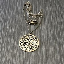 Silpada Sterling Silver Tree Of Life Pendant Necklace With Chain Retired 18""
