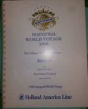 Ms Rotterdam Inaugural World Voyage 1998 RECIPES by Gunther Cussigh, COOKBOOK