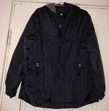 E•Land American Classic Boys Navy Blue Zip Up Lightweight Jacket Coat Sz 6x-7 H