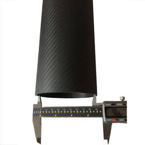 3K Carbon Fiber Tube OD 64mm 80mm 84mm 90mm 94mm 100mm 104mm 114mm x 1M Big Tube
