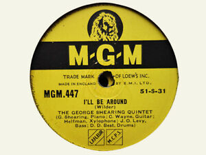 GEORGE SHEARING - I'll Be Around / Don't Blame Me 78 rpm disc (A+)