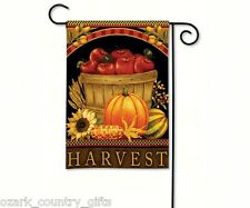 "BreezeArt Garden Mini Harvest Basket, Autumn,Apples,Pumpkin Flag 12.5"" x 18"" New"