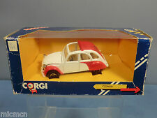 "CORGI TOYS MODEL No.C346/1       CITROEN 2CV    "" RED & WHITE VERSION ""    MIB"