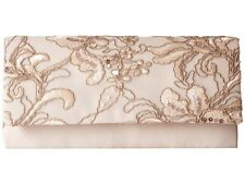 ADRIANNA PAPELL SIBEL Pink OYSTER LACE SEQUIN Clutch Handbag
