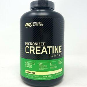 Optimum Nutrition Creatine Monohydrate Powder 120SRV 600G ON Unflavored
