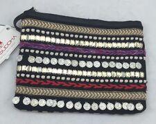 Big Buddha Women's Karla Black Mutli Color Zip Top Clutch w/Wrist Strap ns9/1