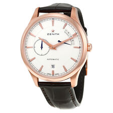 Zenith Captain Power Reserve Silver Dial 18kt Rose Gold Mens Watch