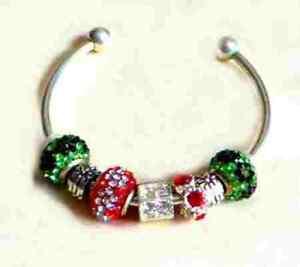 Red Sparkly Pandora Bracelet
