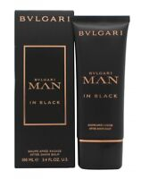 BVLGARI MAN IN BLACK AFTERSHAVE BALM 100ML - MEN'S FOR HIM. NEW. FREE SHIPPING