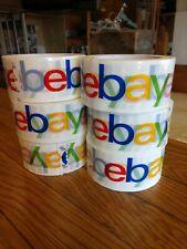 "6 Rolls eBay Branded Logo Shipping Tape Packing 2"" x 75 yard"