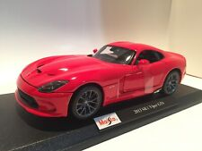 2013 Dodge Viper GTS - SRT - Red - Die Cast Maisto Special Edition 1:18 scale
