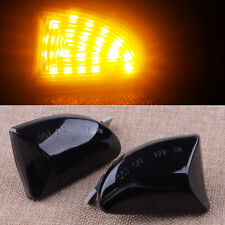 2pcs LED Side Markers Lights Fit For Smart Fortwo W451 Coupe 2007-2014 Black