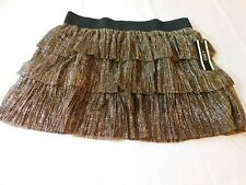 A. Byer Women's Ladies skirt Gold Sparkly Party skirt Size Variations NWT