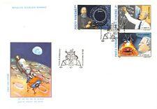 Apollo 11 20th Anniversary Romania 2 Fdc Covers/Catchets 6 Stamps (Sc# C278-283)