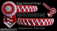 Browband Ziggy Mirrors  red & white gold by Starlight Browbands
