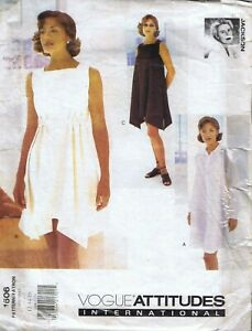 Vogue 1606 Sewing Pattern Designer Dress Size 12 14 16 No Instructions
