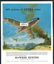 HAWKER SIDDELEY GROUP 1958 HAWKER HUNTER F-6 WITH 660 GALLON DROP TANKS AD