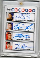 2008-09 Kevin Love/Beasley/Lopez/Alexander Topps PHOTO SHOOT QUAD RC AUTO (G36)