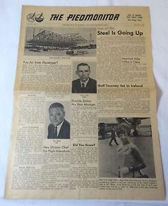 August 1967 PIEDMONT AIRLINES Piedmonitor newspaper