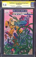 Transformers Vs. G. I Joe FCBD #0 CGC 9.8 SS Tom Scioli NM+ / M 2014 IDW