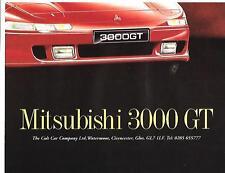 """MITSUBISHI 3000 GT AUTO """"vendite opuscolo"""" POSTER @EARLY anni'90?"""