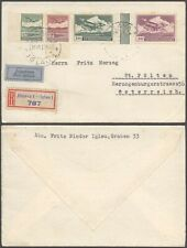 Czechoslovakia 1937 - Registered Air mail cover to Austria D80