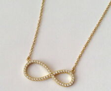 Necklace for Women 16''+1'&#0 39;+1'' Sterling Silver Gold Plated Infinity