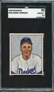 Bobby Morgan 1950 Bowman # 222 - Highest Graded, POP 1 - SGC 92