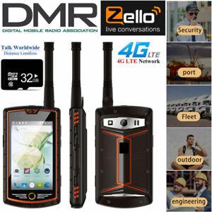 4G DMR Android Rugged Waterproof Smartphone Walkie Talkie NFC Cell Phone +32GB