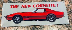 70's Stingray Corvette Wall Plaque